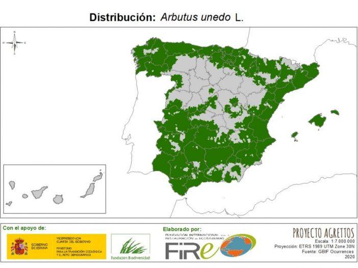 Mapa de Distribución de Arbutus unedo
