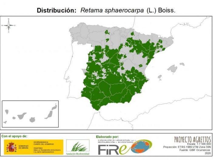 Mapa de Distribución de Retama sphaerocarpa