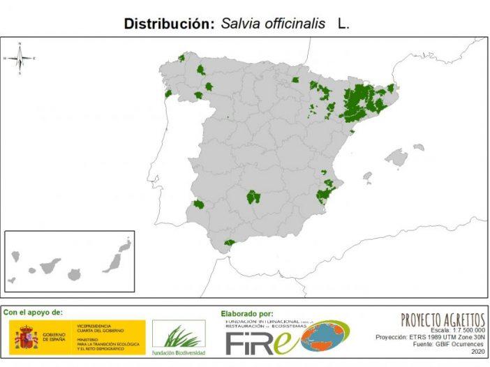 Mapa de Distribución de Salvia officinalis