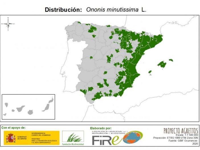 Mapa de distribuciónOnonis minutissima L.
