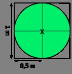 Diámetro aproximado de un metro